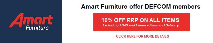 Amart Furniture offers DEFCOM discount