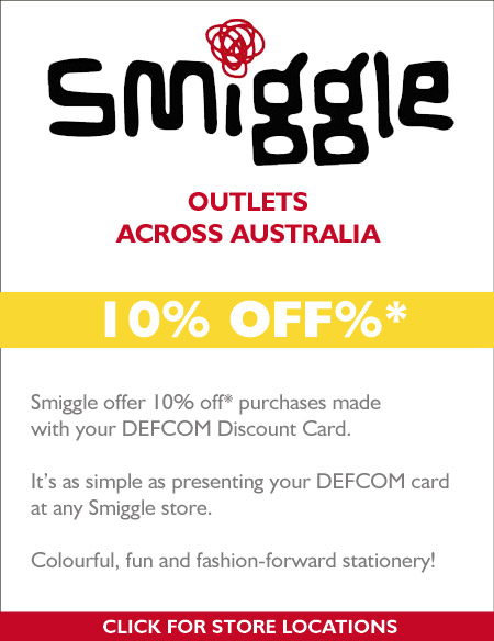 10%  OFF* at Smiggle