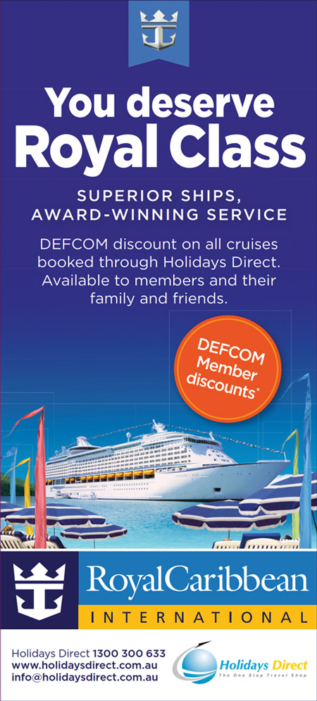 Discount off every Royal Caribbean cruise booked with Holidays Direct